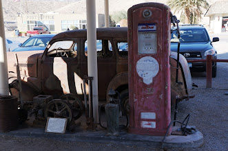 Photo: Old gas station is now part of Shoshone's local museum.