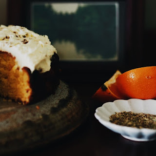 BITTER ORANGE AND FENNEL SEED CAKE.