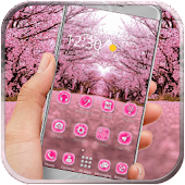 Romantic sakura launcher theme