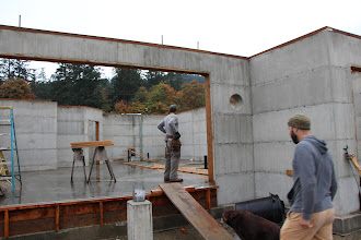 Photo: Slab Poured, building basement walls in preparation for floor joists above