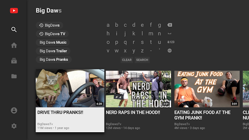 YouTube for Android TV 1.3.11 screenshots 2