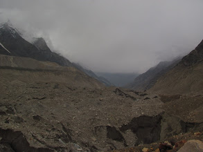 Photo: Day 6 - Looking back from the glacier..