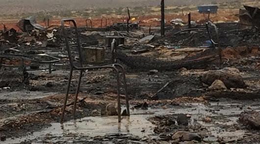 Más de 200 personas pierden su casa tras el incendio en Níjar