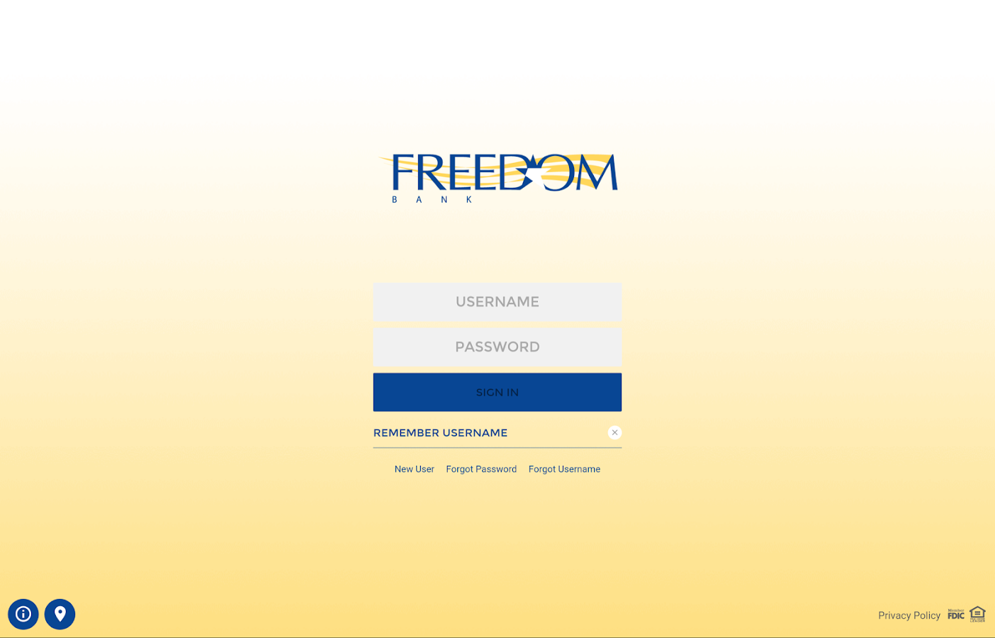 Freedom Bank- screenshot