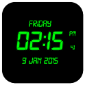 LED Digital Clock LWP icon