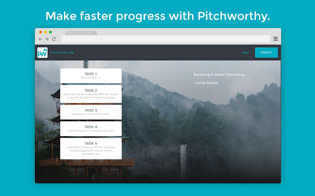 Pitchworthy: Your tasks & todos in new tabs