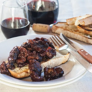 Peposo, a Tuscan black peppercorn beef stew.
