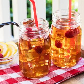 Lemon-Raspberry Infused Iced Green Tea Recipe