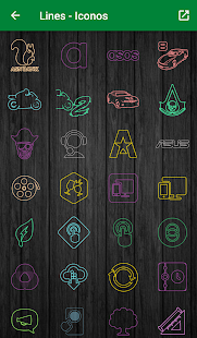 Color Lines - Icon Pack Screenshot