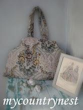 Photo: maxi shopper, modello più piccolo, di Amy Butler con stoffa da arredamento