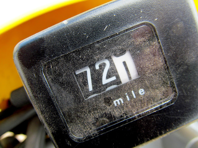 72.1 miles on the odometer