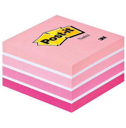 Post-it kub 76x76 rosa