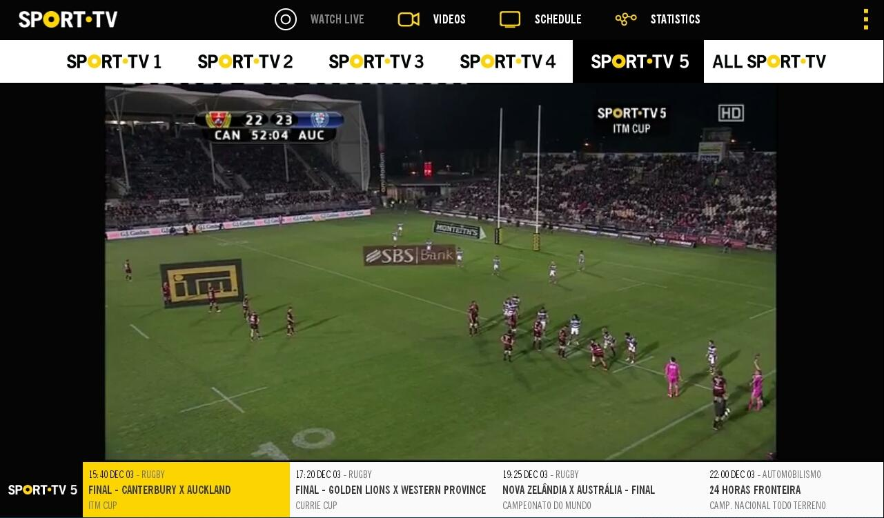 SPORT TV Multiscreen- screenshot