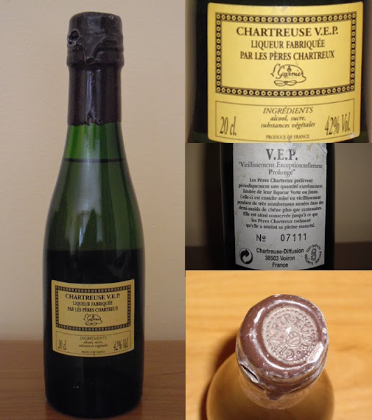 Photo: VEP Jaune en 20cl. Il s'agirait d'une bouteille uniquement réservée aux dégustations chez des cavistes, donc introuvable dans le commerce... Mise en bouteille au début des années 1990. (merci à Vincent)