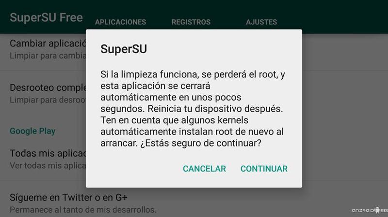 Desrootear un móvil con Android