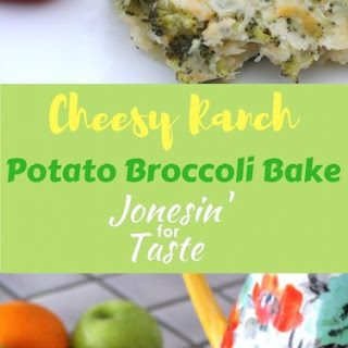 Cheesy Ranch Potato Broccoli Bake