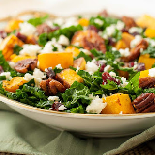 Butternut Squash Salad with Cranberries and Feta Recipe
