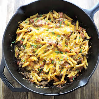 Protein Packed Cheeseburger Casserole.
