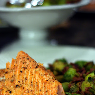 Wild Alaskan Sockeye Salmon with Prosciutto Caramelized Brussel Sprouts