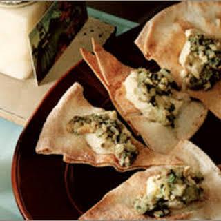 Eggplant and Hummus Pita Crisps.