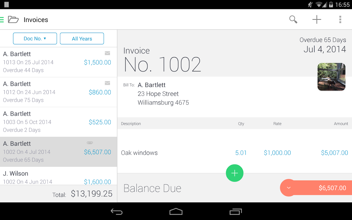 invoice & estimate invoice2go - android apps on google play, Invoice examples