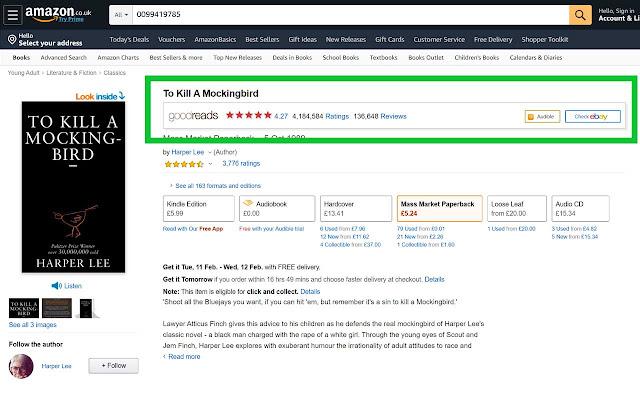 Goodreads for eBay™ & Amazon™ + Right Click