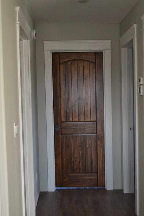 Modern casing and headers ana white woodworking projects for Wood doors painted trim