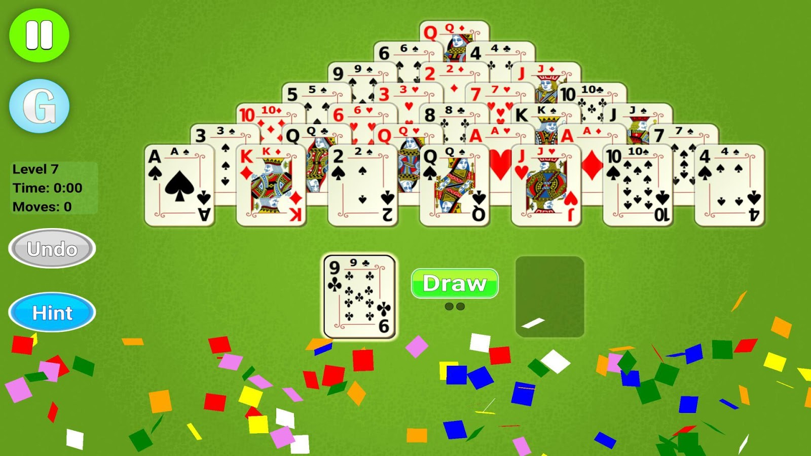 how to set up pyramid solitaire
