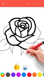 How To Draw Flowers APK screenshot thumbnail 2