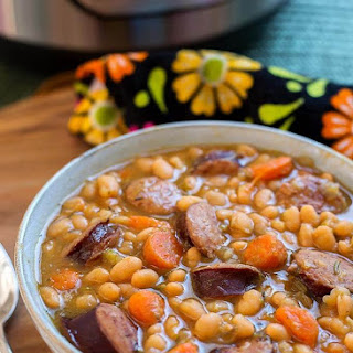 Instant Pot Sausage and White Beans Recipe