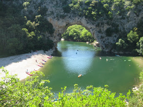Photo: The arch in the beautiful Ardeche river gorge.