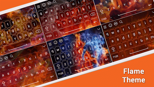 Flame Keyboard Theme