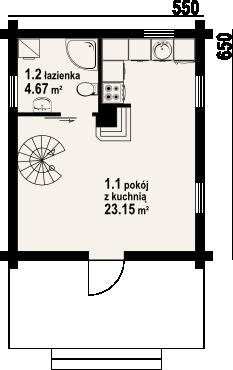 Gajowo 6p - Rzut parteru