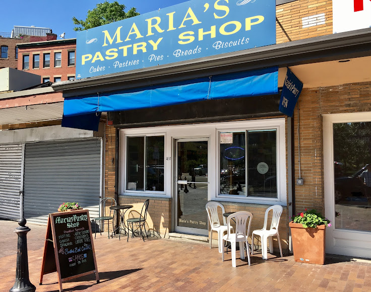 The front of Maria's Pastry Shop.