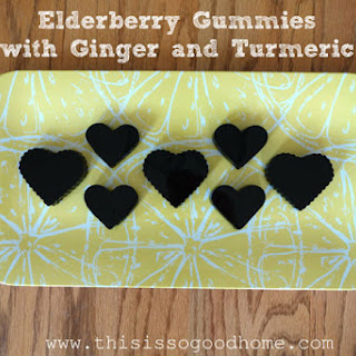 Elderberry Gummies with Ginger and Turmeric Recipe