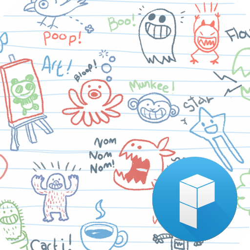 Go Go Drawing launcher theme