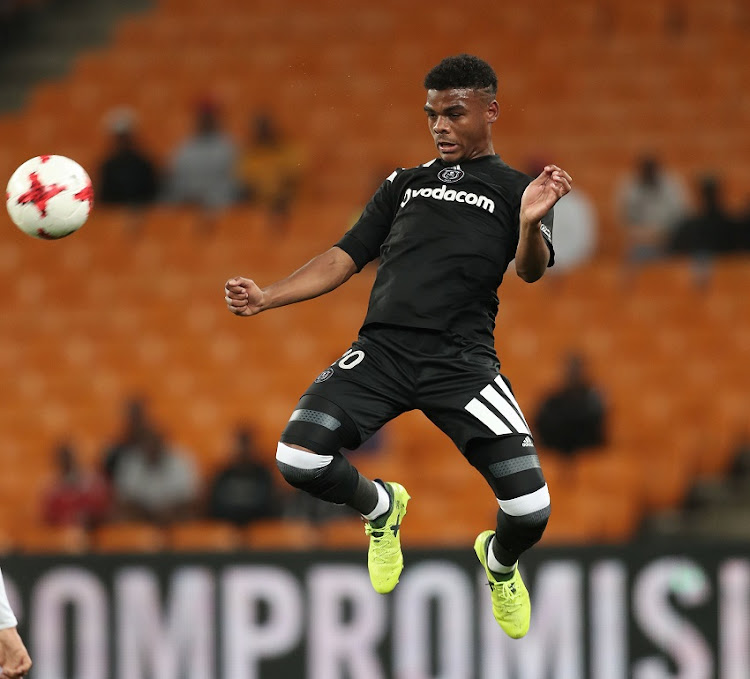 Lyle Foster of Orlando Pirates during the 2017/18 Absa Premiership football match between Orlando Pirates and Cape Town City at Soccer City.