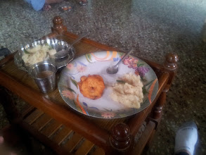 Photo: A really good meal Madhavan's mom made for us.