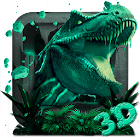 3d World of T-rex dragon theme icon