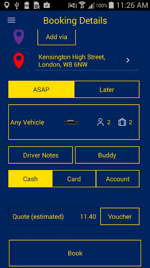 Parker Car Service- screenshot