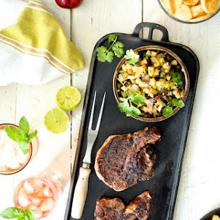 Southwestern Spiced Grilled Pork Chops with Plum Jalapeno Salsa Recipe