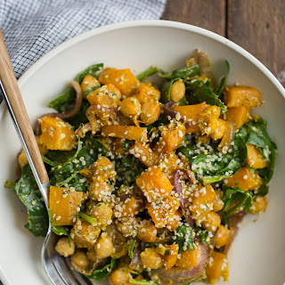 Butternut Squash Salad with Hemp Dressing.
