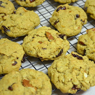 Vegan Orange Oatmeal Trail Mix Cookies.