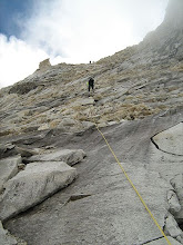 Photo: Last stretch before reaching camp-2. a 200 ft long rock face