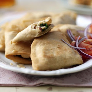 Spinach And Cheese Samosas.