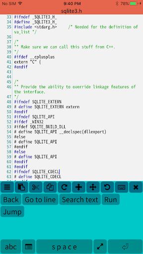 Mobile C ( C/C++ Compiler ) 2.4.2 screenshots 3