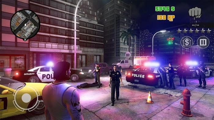 یاری بۆ ئهندرۆید | هاوشێوهی جی تی ئهی  Clash of Crime Mad City War v1.0 APK