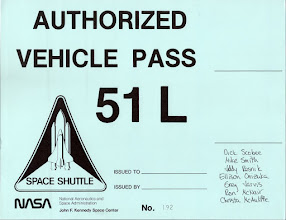 Photo: This was the pass to give to relatives to get onsite to watch the launch (from NASA Causeway?). It wasn't used.