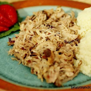 Crock Pot Luau Pork with Cauli Rice