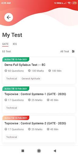GATE/ESE u2013 2021 Online Test Series screenshots 5